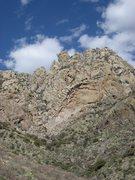 Rock Climbing Photo: The distinctive square-cog profile of Squaretop as...