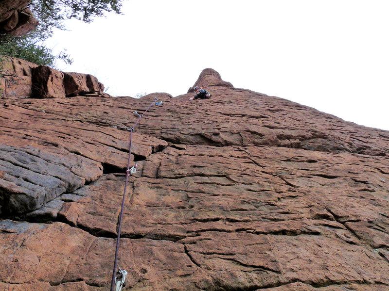 Rock Climbing Photo: Flake-up Exam FA