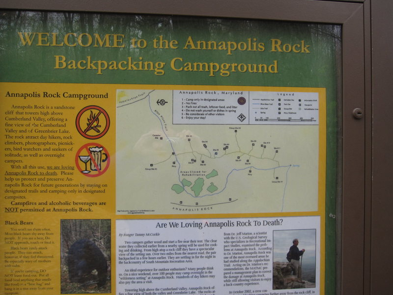 Backcountry camping at Annapolis Rock.