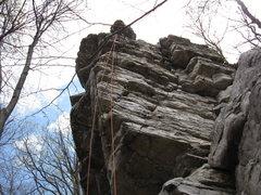 Rock Climbing Photo: Argo Rock.  Wall of Wander variations (5.5-5.9)