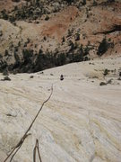 Rock Climbing Photo: Typical sandy white slab climbing