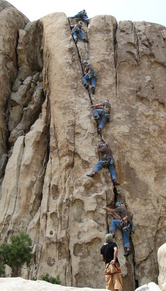 Rock Climbing Photo: Me leading Mr. Misty Kiss today