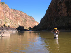 Rock Climbing Photo: Rio Grande likely at 200 cfs in this photo for eas...