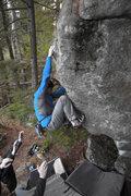 Rock Climbing Photo: Kyle warming up.