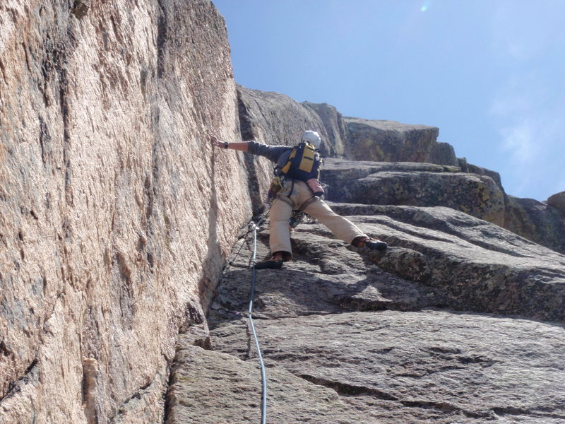 Rock Climbing Photo: On the Yellow Dihedral.