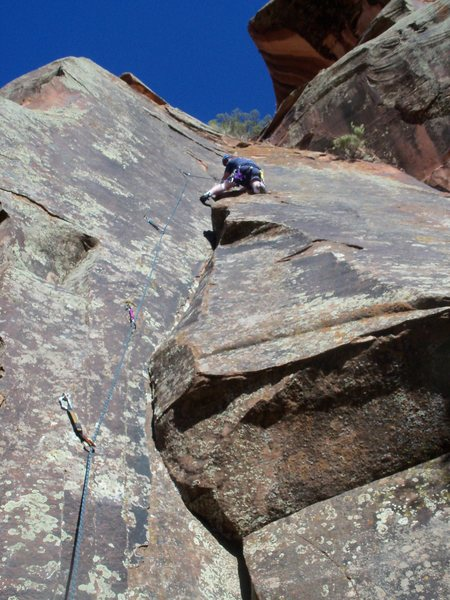 Rock Climbing Photo: Unknown route in the canyon.