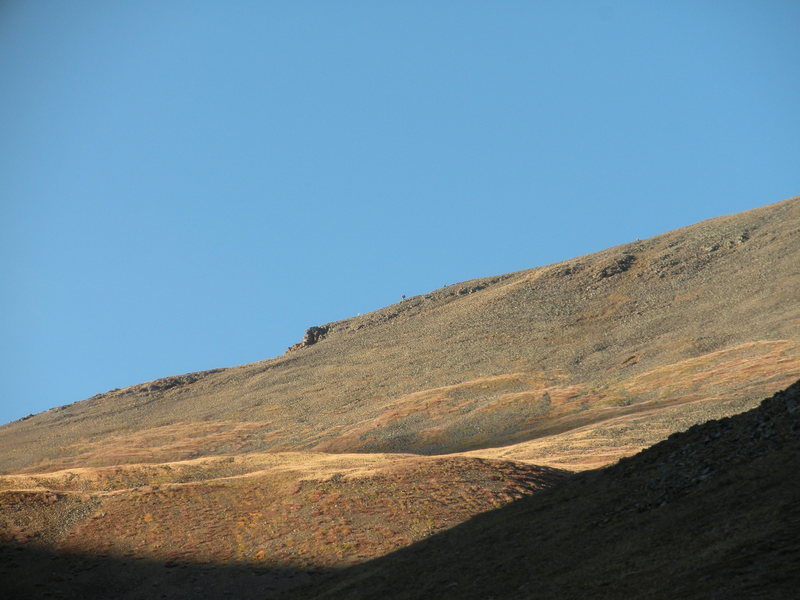 Climbers on Redcloud's ridge - Sept. 2009