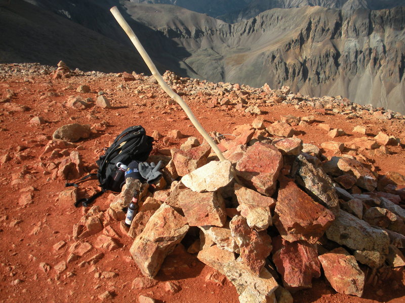 Rock Climbing Photo: Redcloud summit, pack and victory beer - Sept. 200...