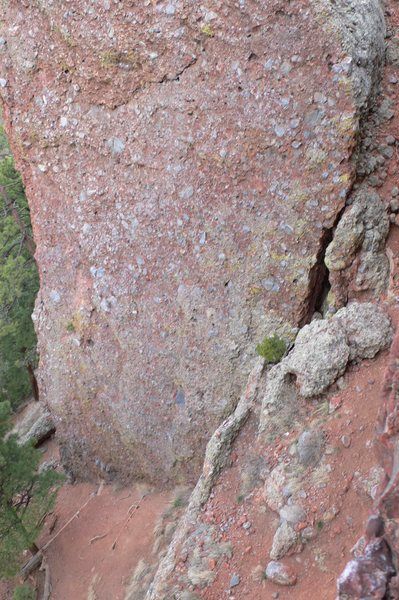 Rock Climbing Photo: This is the Super Slab shot from the top of The Ba...