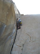 Rock Climbing Photo: Agina getting a little Trad lead practice on The J...