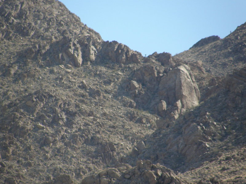 Unnamed and unclimbed crag in The Del Taco Crags Area (It has had one TR attempt...so far...).