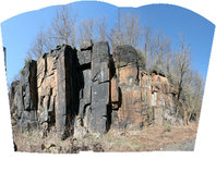 most of the dihedral wall. this photo is 5 images stitched together.