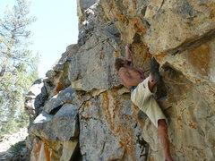 Rock Climbing Photo: Tucker Tech going for the gold.
