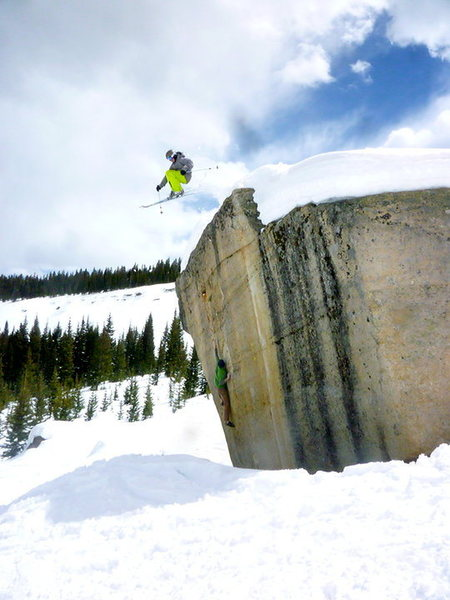 Bouldering in Vail. It's not Photoshopped, I swear.