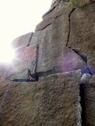 Rock Climbing Photo: Sesame Street, as seen from the bolted belay.  Som...