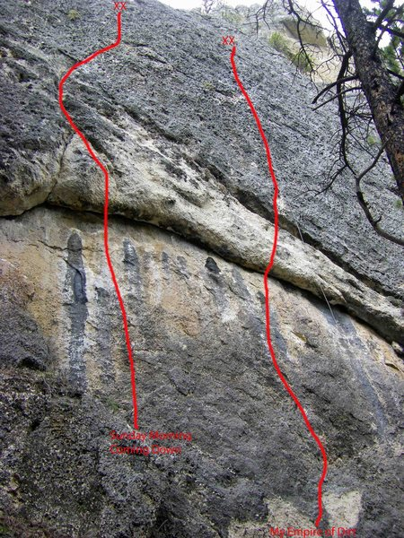 Rock Climbing Photo: The route marked.