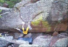 Rock Climbing Photo: Heel beta.