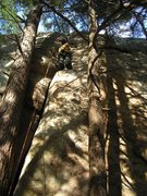 Rock Climbing Photo: double chin. great skill builder foot jam all the ...