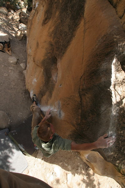 Rock Climbing Photo: Moving up to the rail on Rug Rat