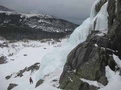 Rock Climbing Photo: The lower Eagle Lake Ice in profile from the walk-...
