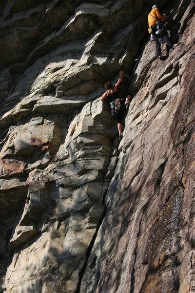 Rock Climbing Photo: Crackin' up