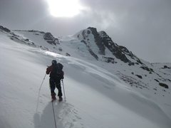 Rock Climbing Photo: The approach to upper Eagle Lake ice involves cros...