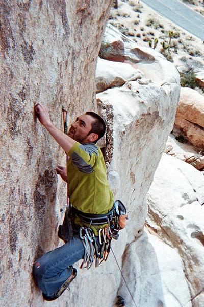 Rock Climbing Photo: Huevos 11+, Intersection Rock, Joshua Tree, CA.
