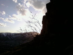 Rock Climbing Photo: table mnt sunset