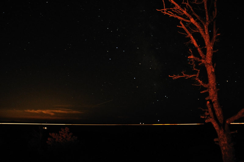 I-80 and stars from a campsite right near Nautilus.