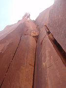 Rock Climbing Photo: This photo shows the entire route from the sandy s...