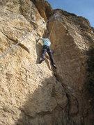 Rock Climbing Photo: Halfway up the easy corner.