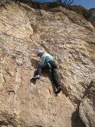 Rock Climbing Photo: Working up the seam.