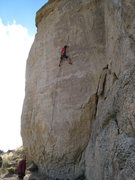 Rock Climbing Photo: Camel Jockey climbs the center of the monolithic p...