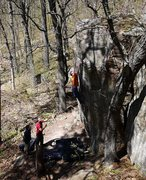 Rock Climbing Photo: Stuck.  Photo Travis Melin.  April '10.  Such a go...