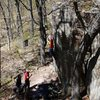 Stuck.  Photo Travis Melin.  April '10.  Such a good problem.
