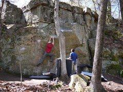 Rock Climbing Photo: Matt, sending Hangman.  Actually come to think of ...