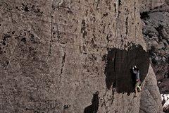 Rock Climbing Photo: pushing through the crux
