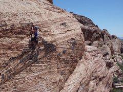 Rock Climbing Photo: Fred Batliner leads. (c) Scott Nomi.