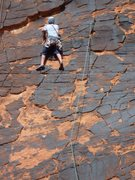 Rock Climbing Photo: Fred Batliner leading. (c) Scott Nomi.