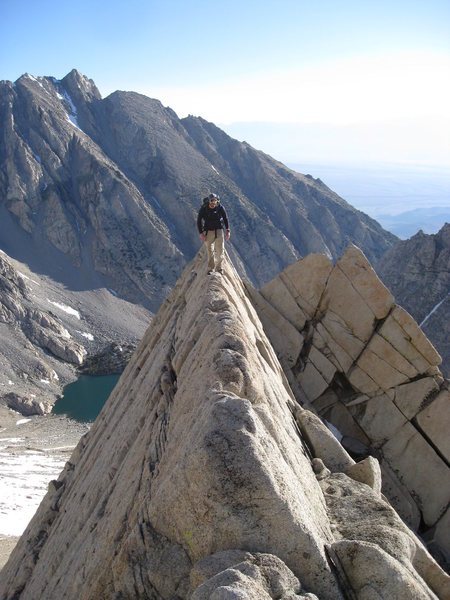 Rock Climbing Photo: Walking the knife edge ridge.