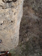 Rock Climbing Photo: Looking down on pitch one.