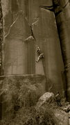 Rock Climbing Photo: B+W of unknown climber on Salt Lake City Special 5...