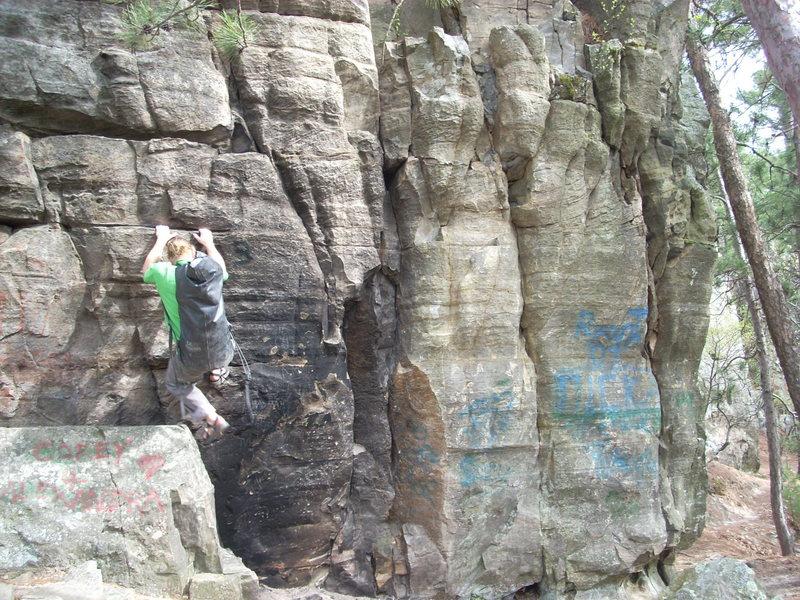 Rock Climbing Photo: Vinny, weight training.