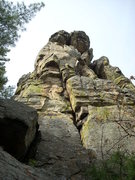 Rock Climbing Photo: This line is the chimney on the far right of the p...