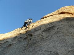 Rock Climbing Photo: Frances on Col. Flagg