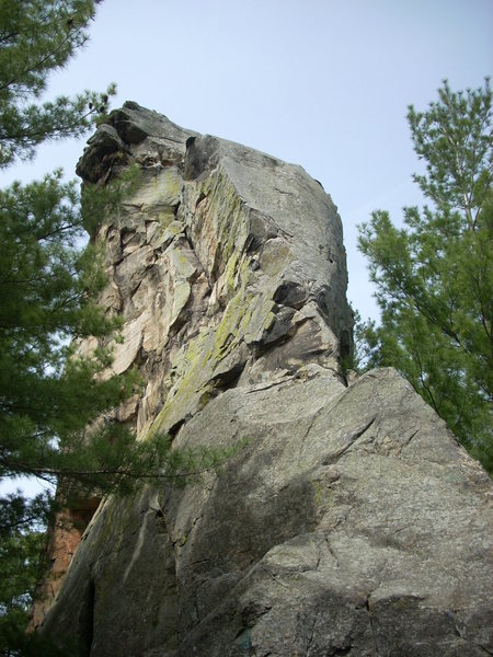 This is directly above Quarry Wall. I accessed it from the river side of the cliff. Slab ever been climbed?