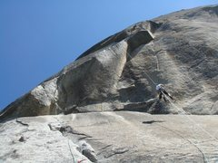 Rock Climbing Photo: jugging the line fixed the night before over the k...