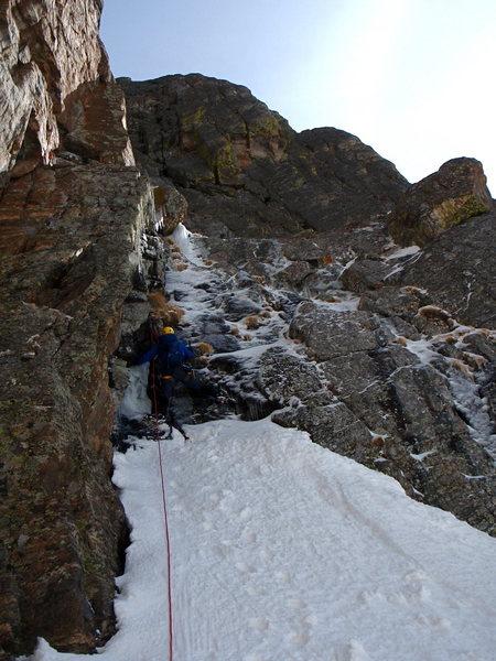 Rock Climbing Photo: Frosty Weller on the left hand start.