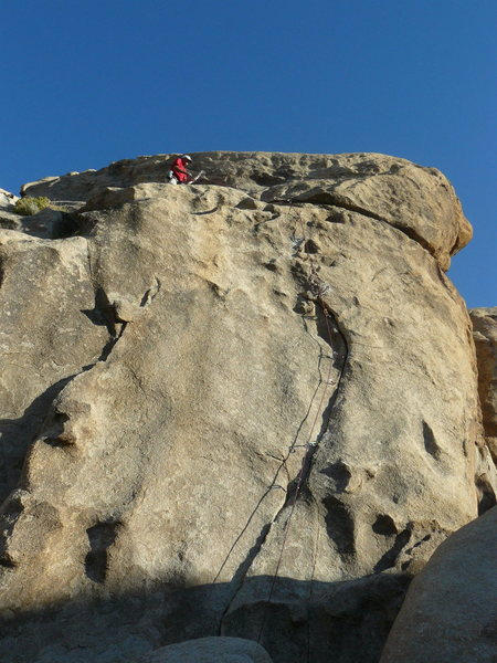 Rock Climbing Photo: Fur (5.10) is on the left, and Col. Flagg (5.10-) ...