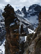 Rock Climbing Photo: Wham, Zowie, and Sharkstooth as seen from the Wham...